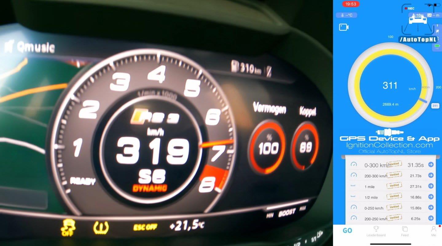 换上大涡轮奥迪RS3 Sportback马力达到675匹